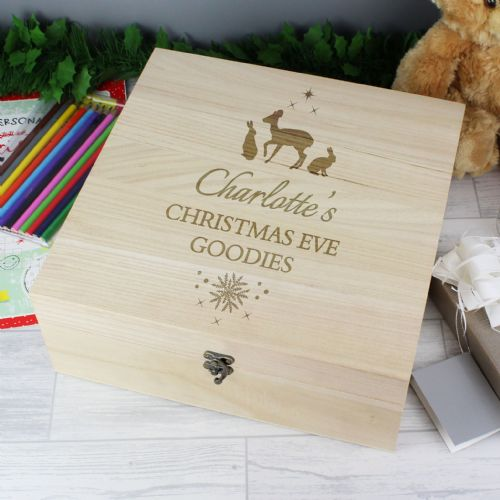Personalised Wooden Christmas Eve Box Any Name and Message